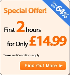 2 Hours for only 14.99 - Introductory Offer - Save upto 64%