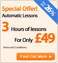 Automatic Driving lessons in the West Midlands Area - Special offer 3 Hours for only 49